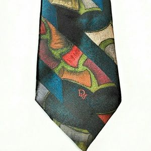Christian Dior Abstract Mens Tie